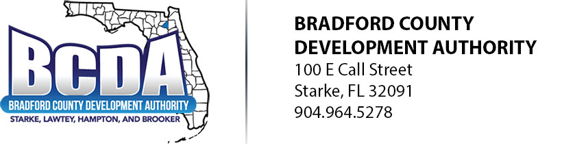 Bradford County Development Authority 100 E Call Street | Starke, FL 32091 | 904.964.5278